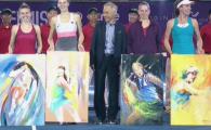 Halep, Pliskova, Ostapenko si Konta au avut parte de o surpriza la premiere! Thailandezii le-au facut picturi pe panza, dar a Simonei a fost cea mai ABSTRACTA :)
