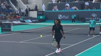 Serena Williams a jucat primul meci la 3 luni dupa nasterea primului copil! Meci demonstrativ cu Ostapenko la Abu Dhabi! VIDEO