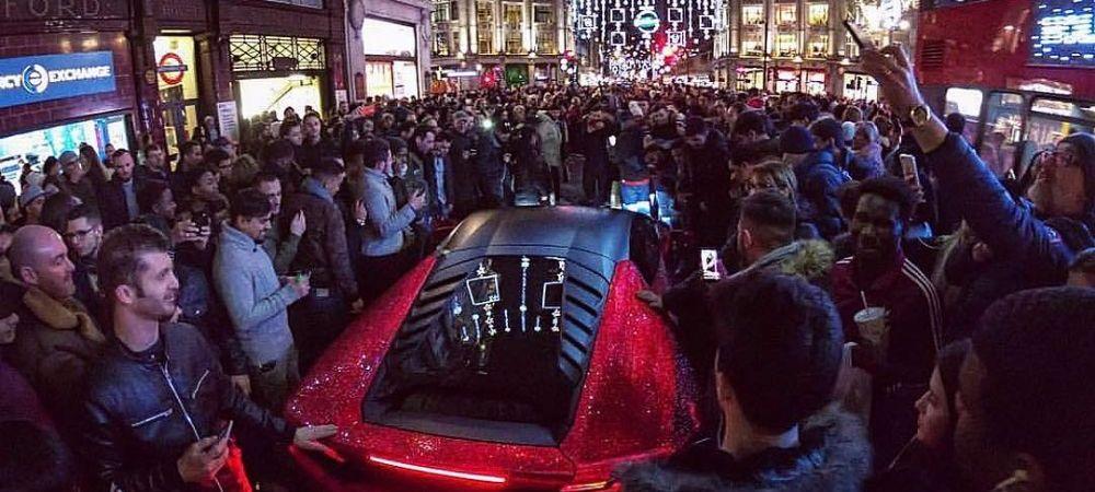Sute de oameni s-au adunat sa admire masina unei moldovence din Londra! Bolidul e UNIC in lume! Cum l-a tunat