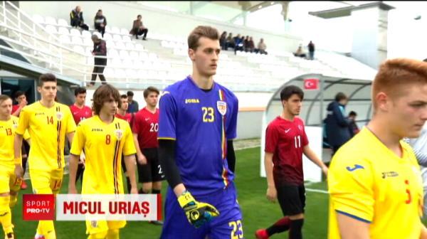 Are 16 ani si 2,03 m inaltime! Portarul Romaniei de la U17 a inceput sa planga dupa meciul de azi: am pierdut cu 6-2 in fata Turciei