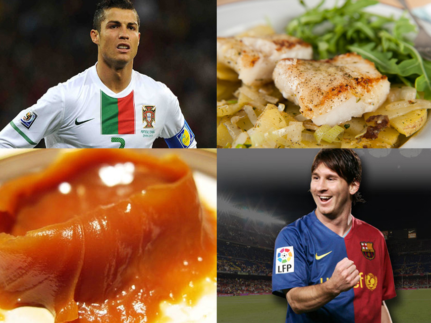 Meniu de fotbalist. Uite ce mananca Messi si Ronaldo cand nu sunt in cantonament