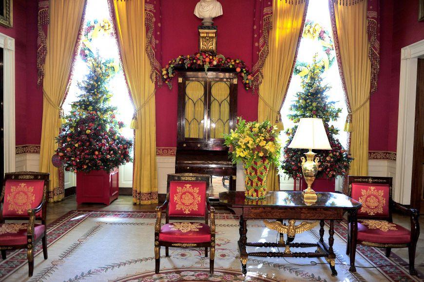 Craciun de poveste la Casa Alba: cum este decorul in care isi va petrece familia Obama sarbatorile de iarna