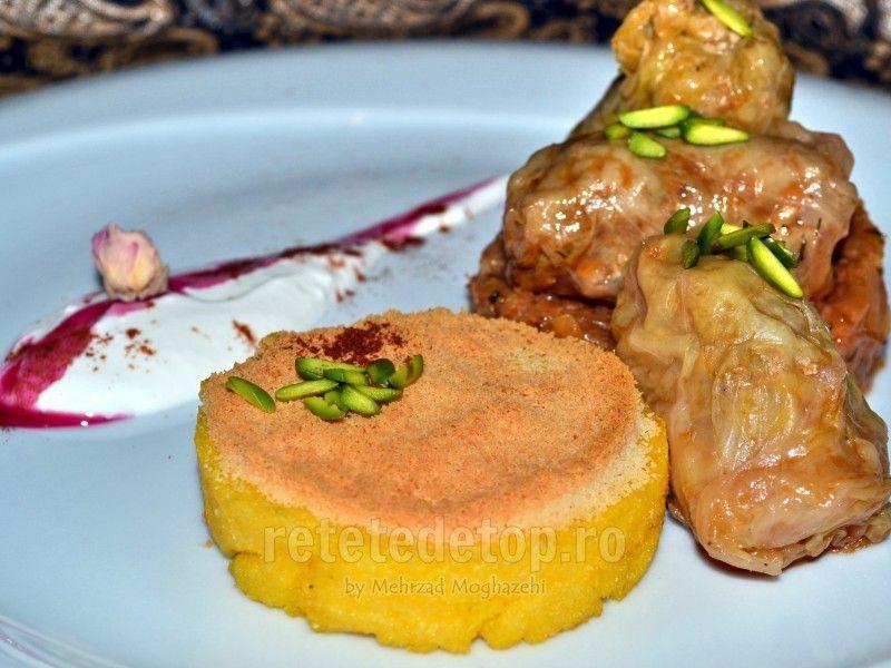 Sarmale de MasterChef:Moghazehi Mehrzad iti recomandao reteta delicioasa cu mamaliguta si parmezan