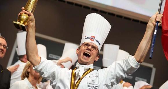 Maestrul bucatar Thibaut Ruggieri, castigator al concursului gastronomic Bocuse d'Or 2013