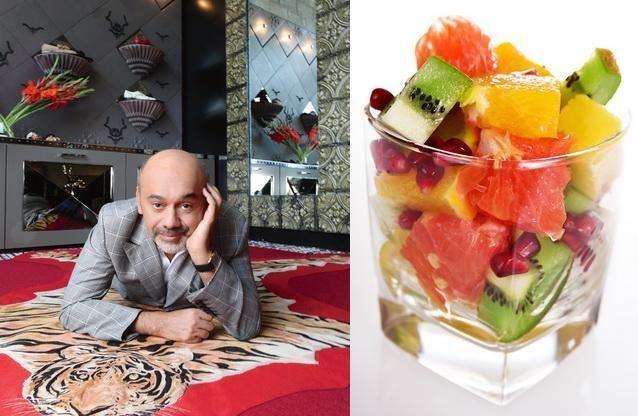 Mic dejun de vedeta: Regele pantofilor, Christian Louboutin, nu concepe viata fara fructe