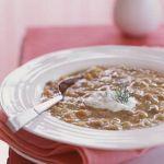 Supa de linte si rubarba