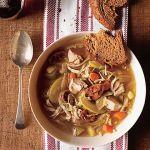 Supa de pui cu varza si mere