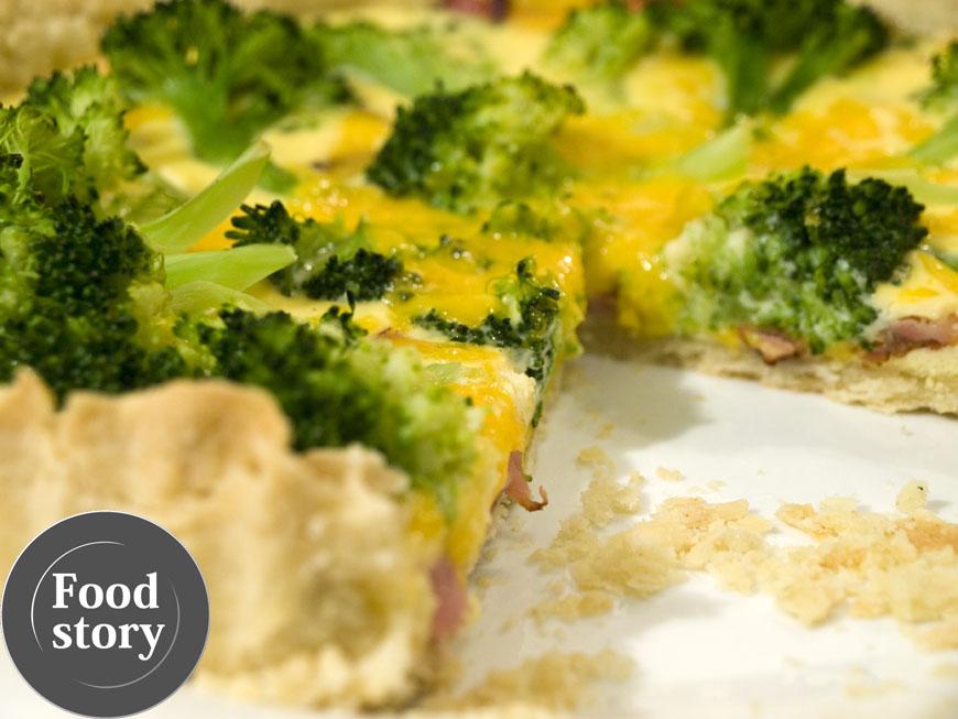 Testat de Foodstory: Tarta sarata cu broccoli si bacon