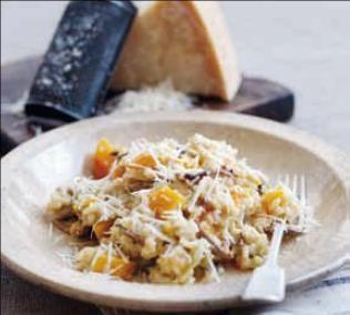 (P) Risotto cu Parmigiano Reggiano, dovleac si ciuperci, o reteta care merita incercata
