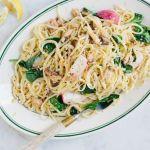 Spaghete cu sardine si lamaie