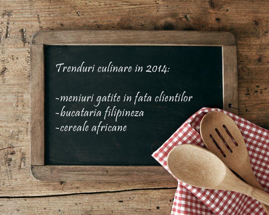 Trenduri culinare care vor fi pe val in 2014