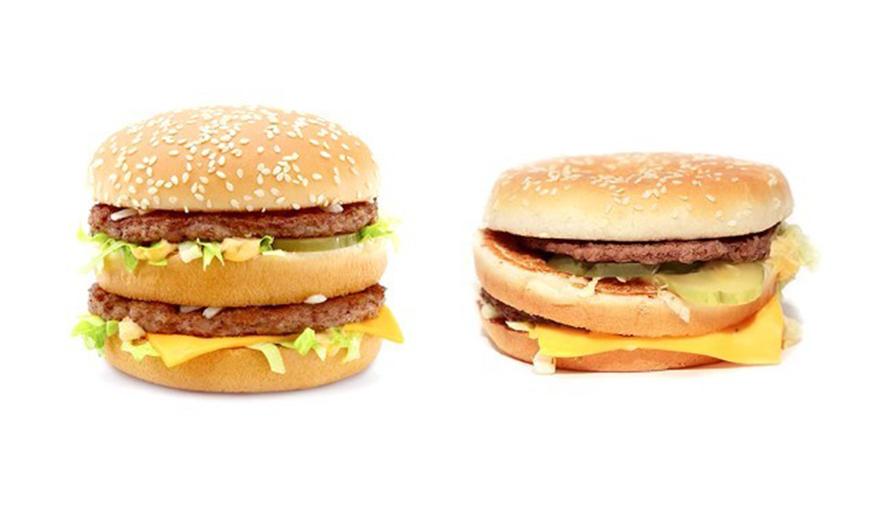 Care sunt diferentele dintre produsele McDonald's din reclame si cele din realitate VIDEO