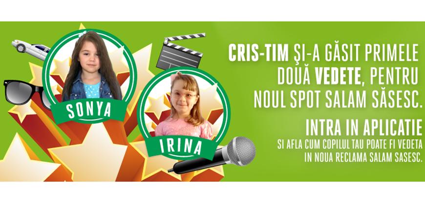 """(P) Concursul """"Cris-Tim te face superstar!"""" a desemnat primii doi castigatori"""