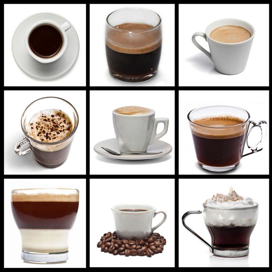 Cafeaua perfecta in 38 de variante. Proportia ideala intre lapte, cafea si alte ingrediente