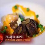 Reteta Odette: Ficatei de pui cu piure de morcov si telina