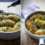 O garnitura pentru sezonul rece: cartofi acordeon cu rozmarin si usturoi