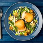 Salata cu hribi si sparanghel
