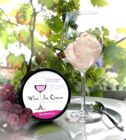 Trebuie să fii major ca să deguști această înghețată pe bază de vin și cu 5% alcool