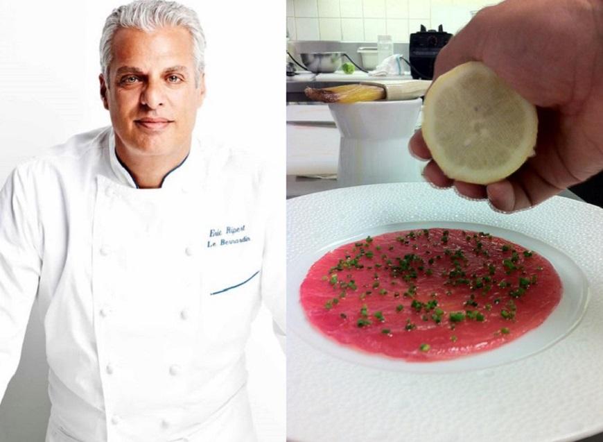 Chef Eric Ripert te invata cum sa gatesti acasa un preparat de fine-dining: Carpaccio de ton