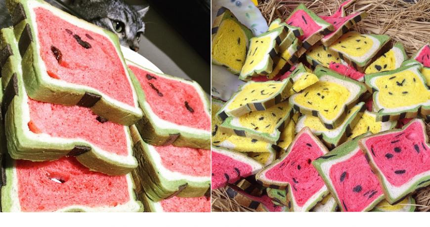 Painea care arata ca un pepene– noul trend in materie de alimentatie in Taiwan