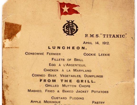 Ce continea ultimul meniu gourmet servit pe Titanic
