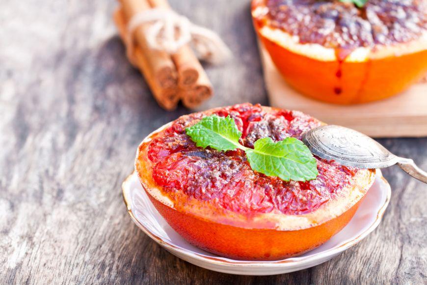 Desert simplu pentru Anul Nou - Grapefruit cu rom