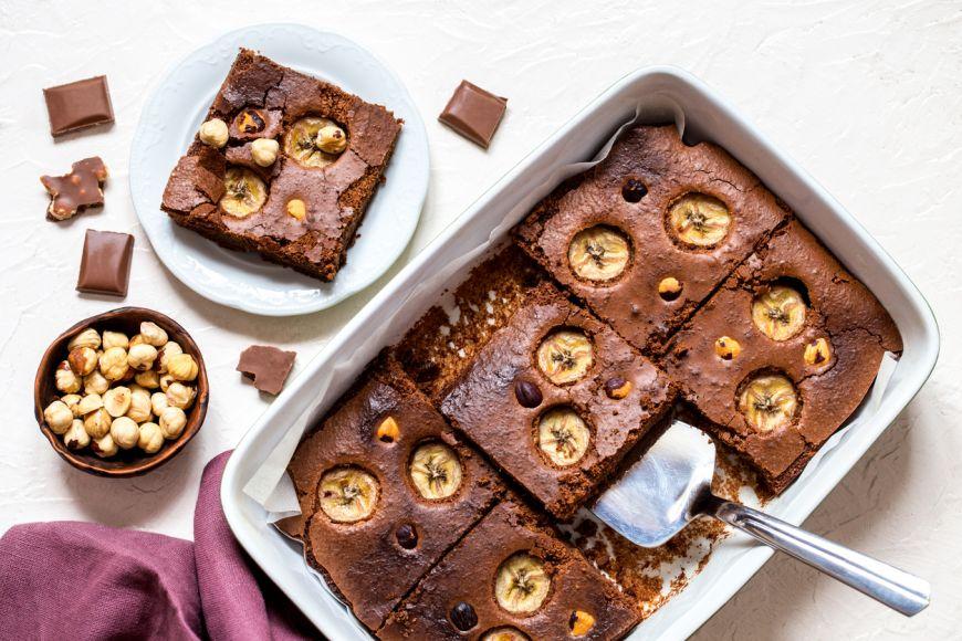 Brownie cu fructe - reteta simpla si rapida