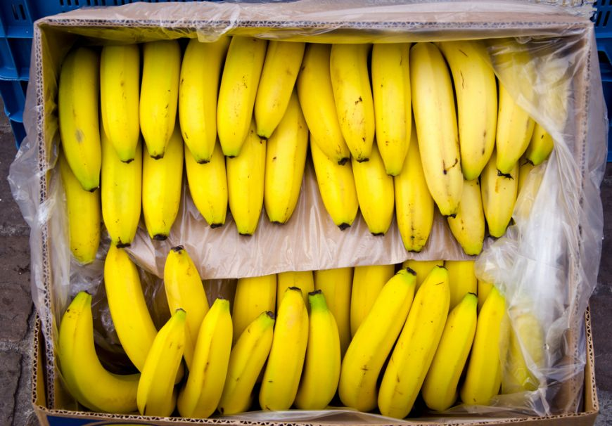 Ce au descoperit angajaţii unui supermarket într-o cutie cu banane