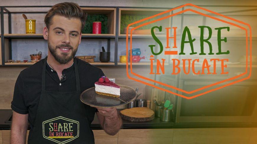 ShARE ÎN BUCATE - Cheesecake cu căpșune, fără coacere