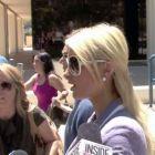 VIDEO Paris Hilton atacata de un  nebun  in fata tribunalului