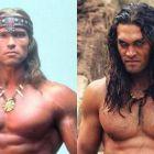 Cine este adevaratul Conan? Jason Momoa il provoaca pe Arnold! Vezi cine a castigat! :)