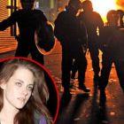 Kristen Stewart, pazita de 6 politisti de revoltele din Londra. Filmarile de la Snow White and the Huntsman oprite