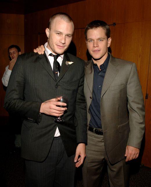 Heath Ledger si Matt Damon 2005