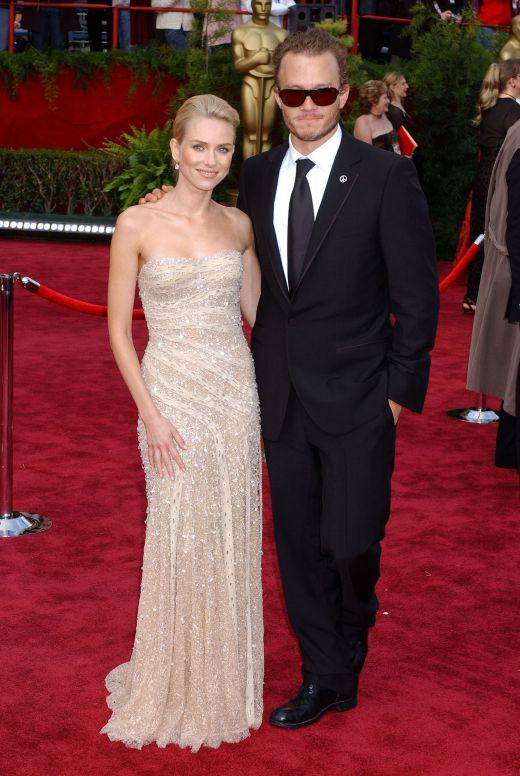 Heath Ledger si Naomi Watts in 2004 la cea de-a 74-a Gala a Premiilor Oscar