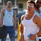 Mark Wahlberg si Dwayne Johnson, in batalia muschilor. Cum s-au transformat cei doi in filmul Pain and Gain