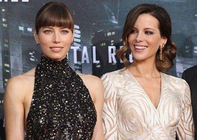 Jessica Biel si Kate Beckinsale au stralucit la premiera filmului Total Recall de la Berlin. Cu ce tinute au impresionat cele doua actrite