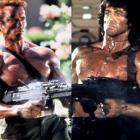 Arnold si Stallone: pariul facut de cei doi granzi ai filmelor de actiune inainte de a lansa doua noi pelicule.  Sly a ucis 288 de oameni, eu am ucis 289