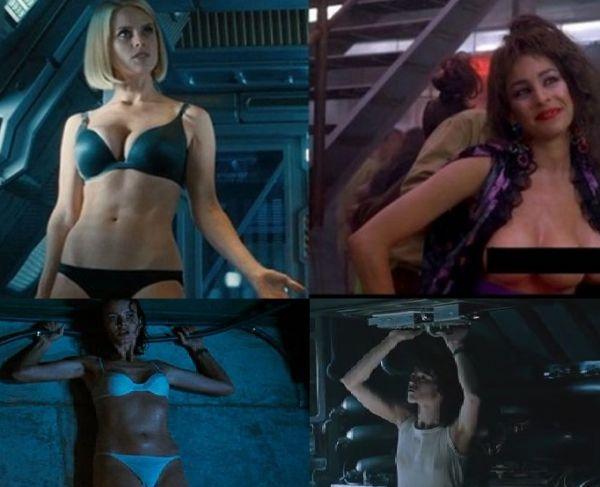 Top 10 scene nud  gratuite  in fimele SF. Cum au aparut actorii in unele din cele mai apreciate productii din istoria cinematografiei