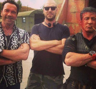 The Expendables 3: Arnold Schwarzenegger si Sylvester Stallone isi arata muschii intr-o noua imagine de la filmari