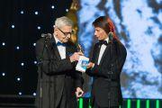 Momentul serii la Gala Premiilor Gopo 2014: Radu Beligan a ridicat sala in picioare:  Acest premiu este un dar de la Dumnezeu