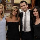 Reuniune Friends, la Jimmy Kimmel in emisiune: Jennifer Aniston, Lisa Kudrow si Courteney Cox au creat un moment special la 20 de ani de la premiera serialului