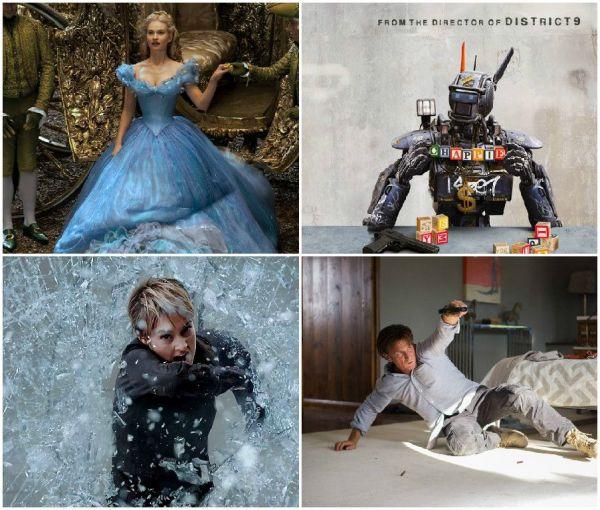 Filmele lunii martie la cinema: Chappie, cu Hugh Jackman, Insurgent si Cinderella se lanseaza in Romania. Care sunt filmele pe care nu trebuie sa le ratezi