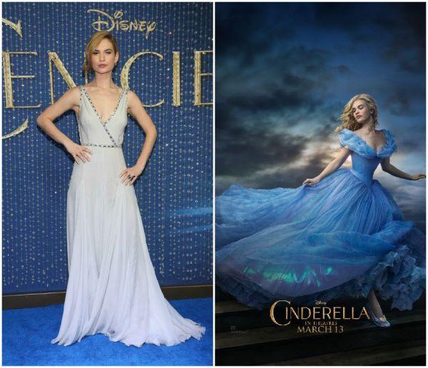Lily James, in centrul unor controverse dupa premiera filmului Cinderella: i-a fost modificata in Photoshop talia in posterul oficial? Ce dieta drastica a tinut pentru a fi perfecta in celebra rochie