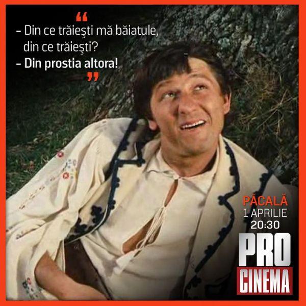 Pe 1 Aprilie comedia romaneasca te prinde la PRO CINEMA. Ce filme ti-am pregatit pentru o zi de pomina
