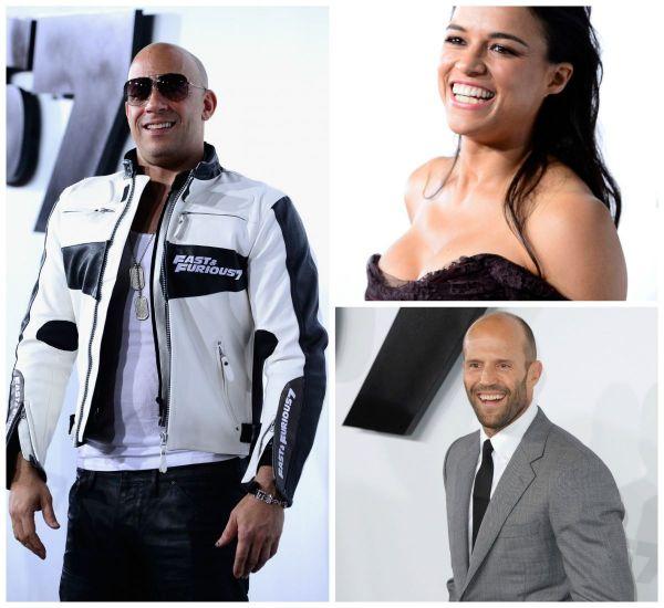 Premiera de gala a filmului Furious 7 a strans cele mai populare staruri: Michelle Rodriguez a atras atentia cu o rochie decoltata, Jason Statham a creat isterie in randul fanilor