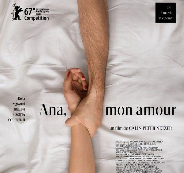 Filmul ,,Ana, mon amour , de Calin Peter Netzer, selectat in competitia oficiala a celei de-a 67-a editii a Festivalului International de Film de la Berlin