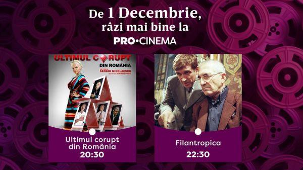 De 1 decembrie, râzi mai bine la PRO CINEMA. Ce program TV v-am pregătit