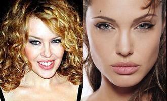 Kylie Minogue ar vrea sa o sarute pe Angelina Jolie