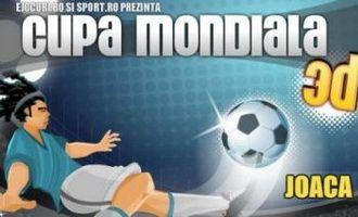 "www.sport.ro are sectiune de jocuri! Intra si tu in ""Cupa Mondiala 3D""!"