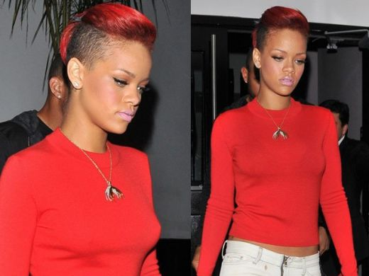 Rihanna surprinsa fumand marijuana FOTO